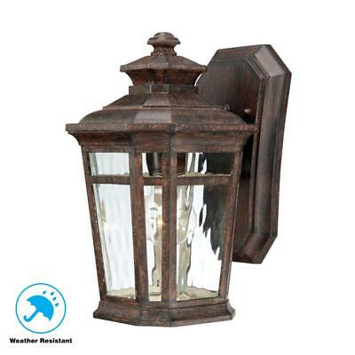 Home Decorators Collection Waterton 1-Light Dark Ridge Bronze Outdoor Wall Mount