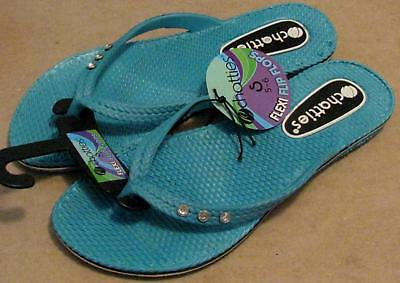 010827a2b Chatties Women s Flexi Flip Flop with Rhinestones Size Small ...