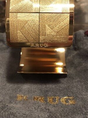 Krug Champagne Napkin Rings Gold Color Extremely Rare Impossible To Find Qty. 6