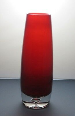Vintage Red Crystal Glass Vase