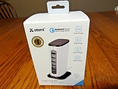 Atomi - Power Adapter - White - Charge Tower Elite Brand New