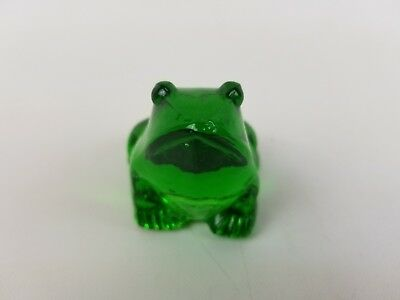 Figurine Miniature Glass Green Frog Animal Collectibles Decor Paperweight