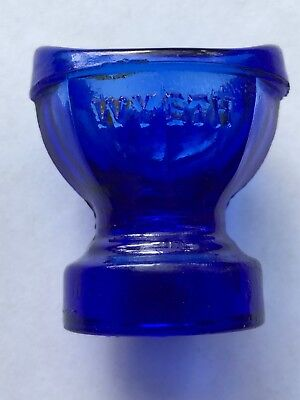 Vintage Wyeth cobalt Blue Glass Eye Was Cup Bottle Lid Top