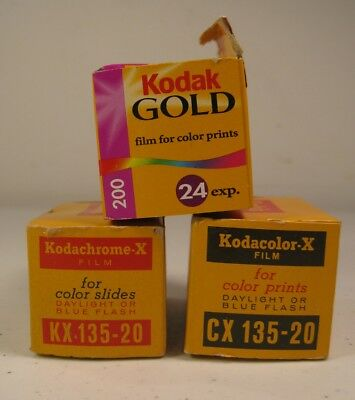 3 Boxes Kodak Film for Color Slides & Prints, Expired (AS IS)
