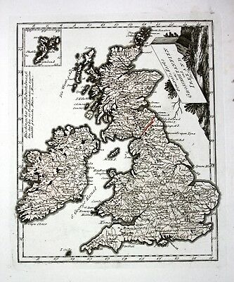 ca. 1790 Great Britain Ireland Großbritannien United Kingdom map Karte Reilly