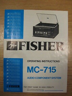fisher mc-715 audio component system manual operating instructions