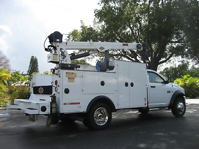 2012 Dodge Ram 5500 4x4 Mechanics Utility Service 7500K Crane Truck Air Comp