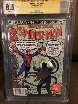 Amazing Spider Man 3 Marvel Tales 140 Cgc 8.5 Asm 3 Homage Signed By Stan Lee