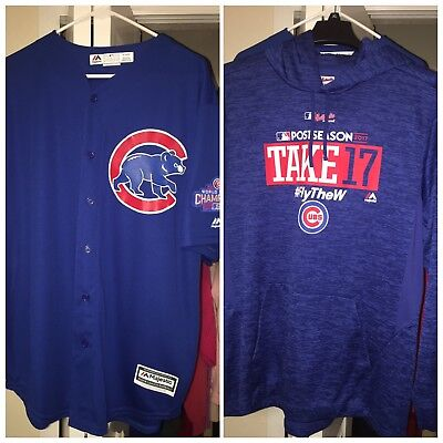 pretty nice 5fed2 05cbe CHICAGO CUBS RIZZO Jersey with 2016 World Series Champ patch & Postseason  Hoodie