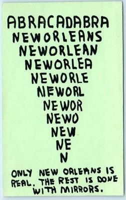 """NEW ORLEANS Louisiana LA """"Only New Orleans Is Real."""" abracadabra postcard"""