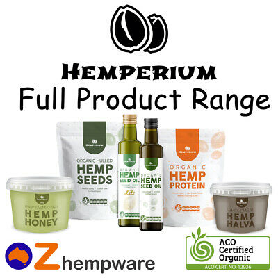 Hemp Oil Seeds Protein Certified Organic Plant Based Australian Manufacturer