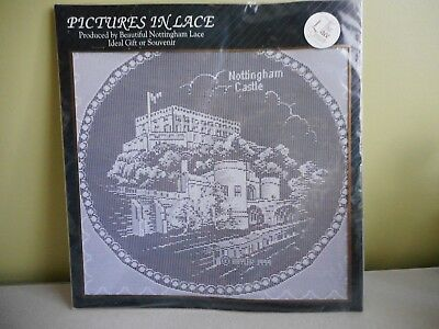 Pictures In Lace Nottingham Castle -  Nottingham Lace White Nwt The Lace Centre