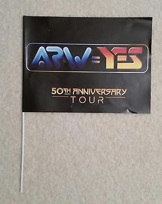 Yes Arw 50Th Anniversary Flag (Official Product), + Ravinia Program W/ Article