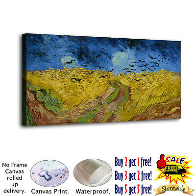 """12""""x26""""Vincent van Gogh Canvas print Painting Home Decor Picture Wall art Poster"""