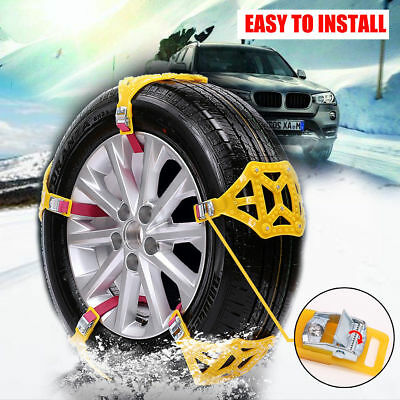 1PC Anti-skid Car Tire Chain Beef Tendon Thickened Wheel Chain for Snow Mud Road