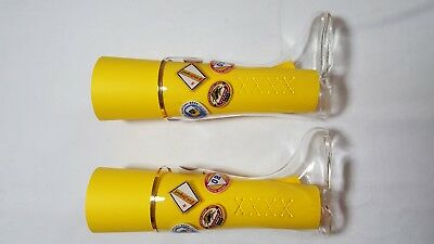 Sasaki Glassware - Beer Glass Set - Glass Boots With Brewery Names and Gold Rim