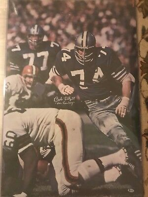 BOB LILLY 1968 Sports Illustrated poster MINT AUTOGRAPH HOF Cowboys Beckett auth