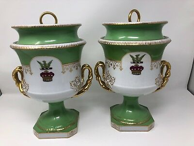Pair of ANTIQUE PORCELAIN French Fruit Coolers