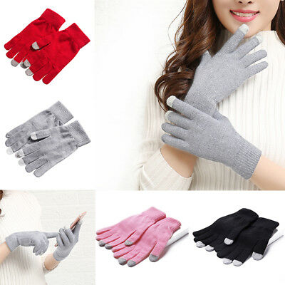 ADULTS Warm Touchscreen Gloves Stretch Winter Mens Colorful Lady Women Phone UK%