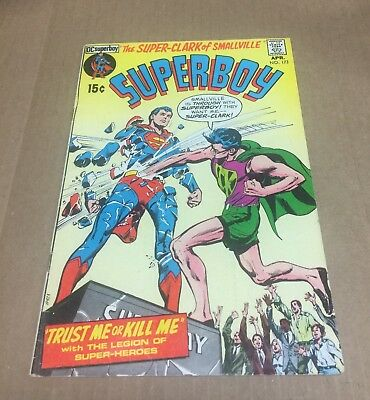 SUPERBOY #173 1971 Superman Action Legion of Super-Heroes Bronze Age DC Comics