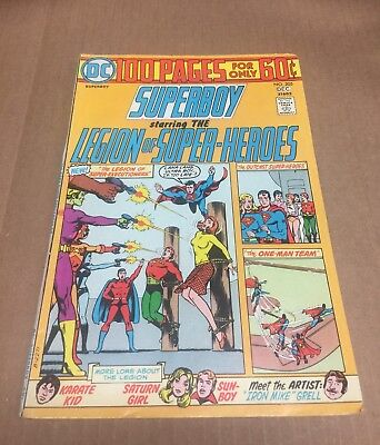 SUPERBOY #205 1974 VF- 100 Page Giant! Superman Action Bronze Age DC Comics
