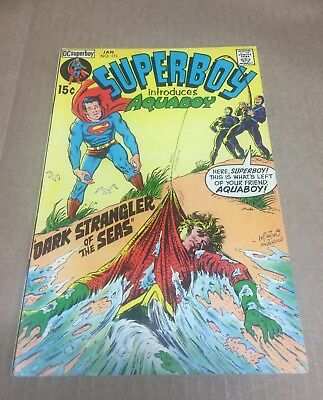 SUPERBOY #171 1971 VF- 7.5 Superman Action Bronze Age DC Comics AQUAMAN app!