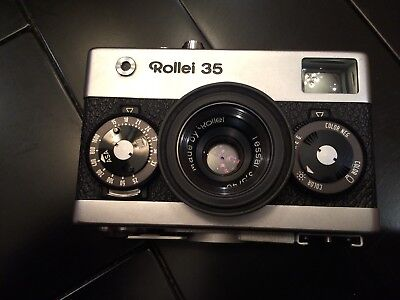 Rollei 35 Tessar 3.5/40 With Factory Case And Rubber Sunshade