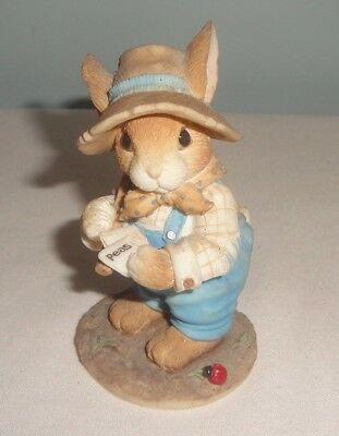 Enesco My Blushing Bunnies 204447 Friendship is Seed of Life Figure  no box