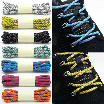 Reflective Sports Sneakers Round Shoe Laces Rope Strings Shoelaces Cord Replace
