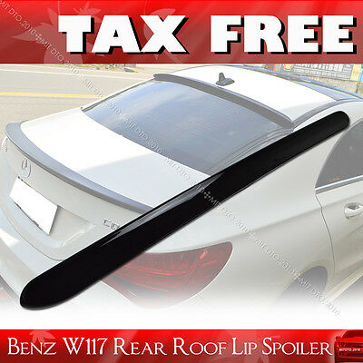 Painted For Mercedes BENZ C117 W117 PUF CLA180 Window Rear Roof Lip Spoiler§