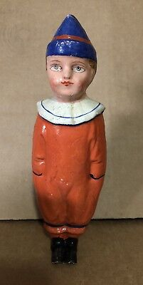 Vintage Halloween? German Clown Candy Container Hand Painted