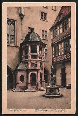 Wendeltreppe im Römerhof Germany 1910 COLOR COLLOTYPE PC by Heinrich Nord UNUSED