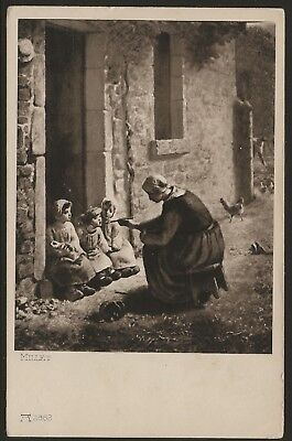 Mother Feeding Her Children Millet Reproduction 1910 PC by Ackermann UNUSED