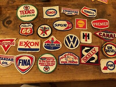 Vintage Lot of 22 Patches from Oil and Gas Industries – Large Variety