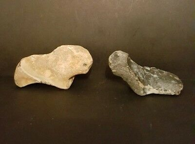 Sublime Upper Palaeolithic Portable Rock Art zoomorphic/anthropomorphic duo.