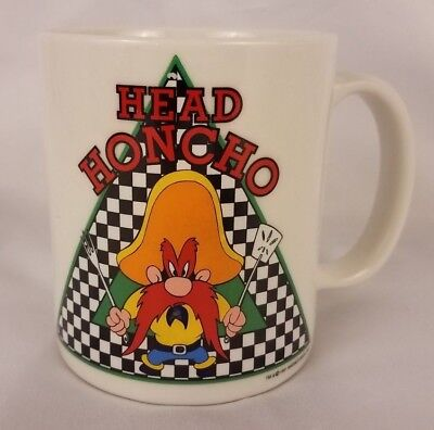 "VTG 1991 Warner Brothers Yosemite Sam Coffee Cup Mug ""Head Honcho"" Looney Tunes"