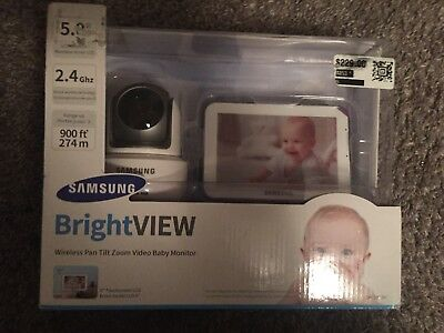 Samsung BrightVIEW HD Wireless Pan Tilt Zoom Video Baby Monitor SEW-3043W