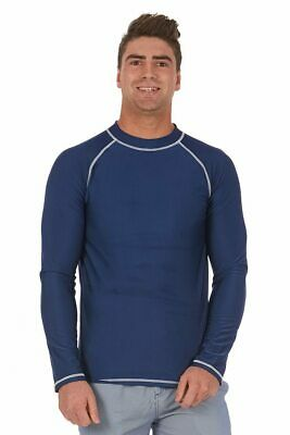 Men's Rashie With Long Sleeves In Estate Blue
