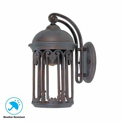 World Imports Dark Sky 7 in. Old Bronze Outdoor Wall Sconce