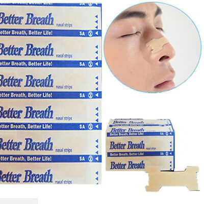 100x Snoring Aid Nasal Strips Ventilated Nasal Cavity Obstruction Breathe Better