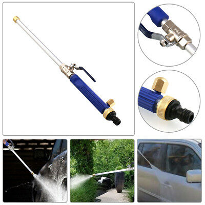 New Jet High Pressure Power Washer Spray Nozzle Water Hose Wand Attachment Blue