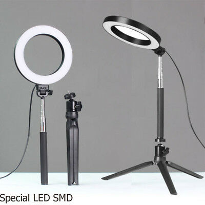 """6"""" LED Ring Light w/Stand 5500K Dimmable Lighting Kit for Makeup Phone Camera"""