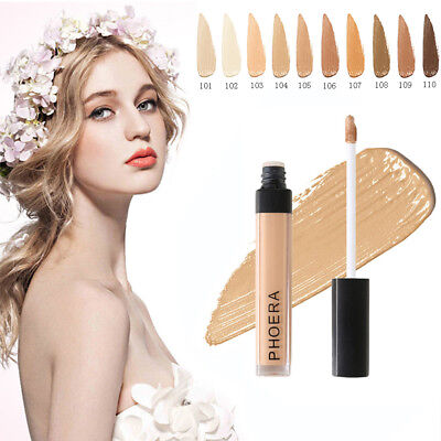 PHOERA Liquid Makeup Concealer Full Coverage Long Lasting Face Cream Foundation❤