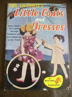 Vintage Enid Gilchrist Pattern Book Little Coats Dresses to 6yrs Sewing Drafting