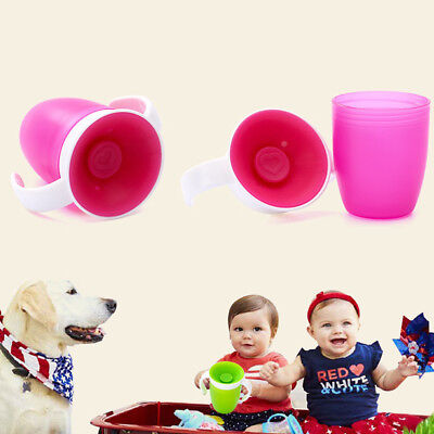 Non-spill Water Bottle Feed Leakproof Double Handle Trainning Toddler Baby Cup