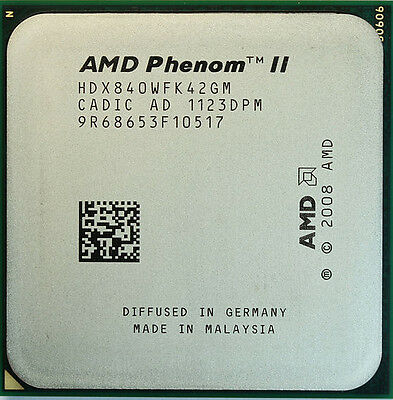 AMD CPU Phenom II X4 840 3.2GHZ Socket AM2+/AM3 HDX840WFK42GM