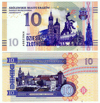Polen Poland Private issue 10 Zlotych (2017) UNC Poland cities series: Krakow