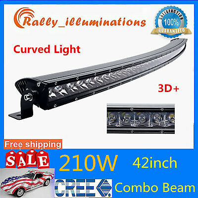 """50""""inch 240W LED Curved Work Light Bar CREE Driving Offroad SUV Single Row PK 52"""