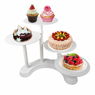 4 storey plate Cake Stand for use with pie cake decoration Wedding cake White