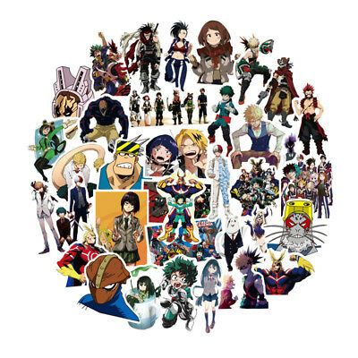 50 Pcs/Set My Boku No Hero Academia PVC Adhesive Stickers For Laptop Luggage Car